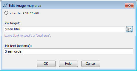 "The ""Edit image map area"" dialog box"