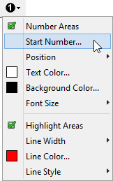 "The popup menu displayed by clicking the ""Create and use an annotated variant of image file"" toolbar button"