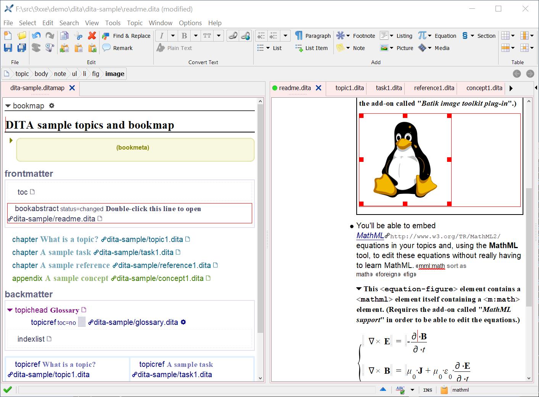 XMLmind XML Editor for Mac full screenshot