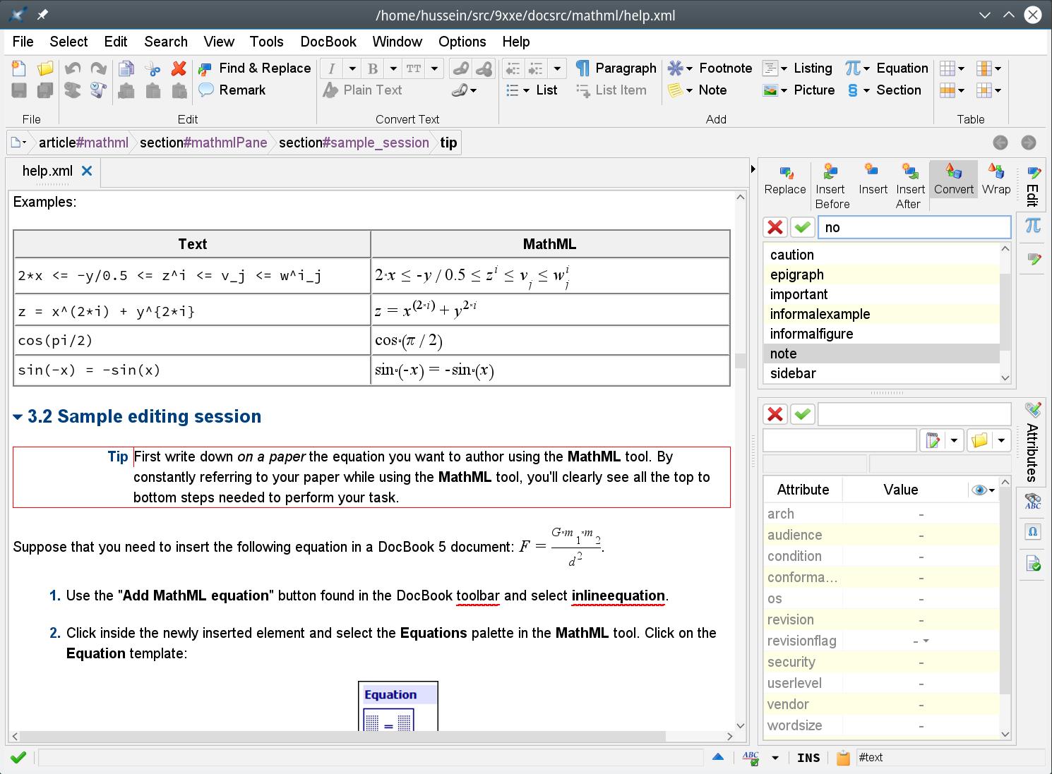 XMLmind XML Editor screenshot