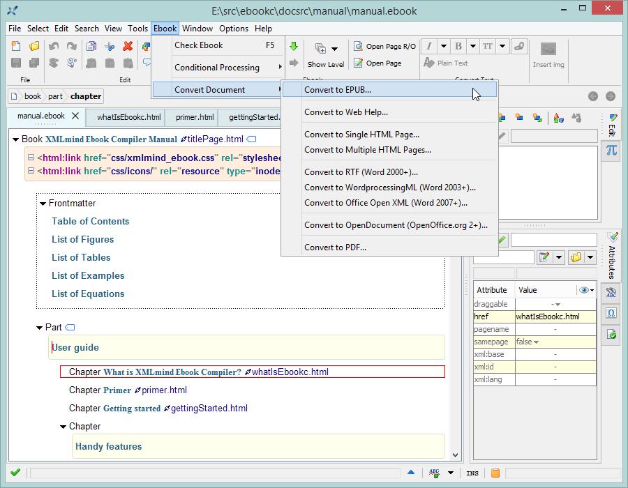 XMLmind Ebook Compiler Manual